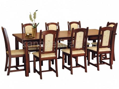 8 személyes bövithető étkezőasztal székekkel